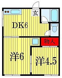 緑山荘[1階]の間取り