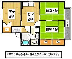 福岡県北九州市小倉北区赤坂1丁目の賃貸アパートの間取り