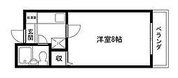 Rinon 脇浜[202号室]の間取り