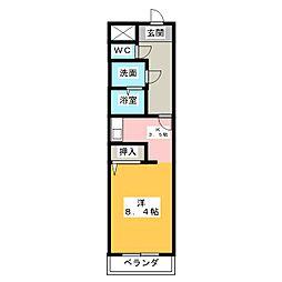 クレールシャンブル[2階]の間取り