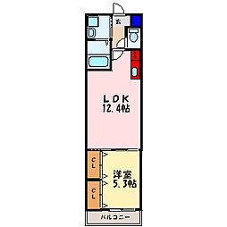 フジパレス塚本[1階]の間取り