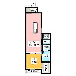 グランディール高山[1階]の間取り