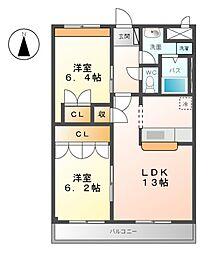 メゾン・ド・アンジュA[2階]の間取り