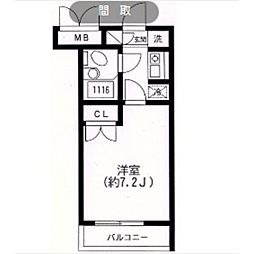 スカイヒル生田[303号室]の間取り