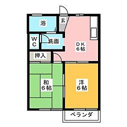 フレグランス横川 B棟[1階]の間取り