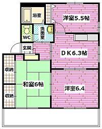 広島県安芸郡熊野町萩原2丁目の賃貸アパートの間取り