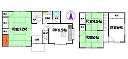 [一戸建] 兵庫県姫路市町坪 の賃貸【兵庫県 / 姫路市】の間取り