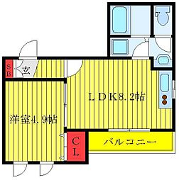 都営三田線 西巣鴨駅 徒歩4分の賃貸マンション 1階1LDKの間取り