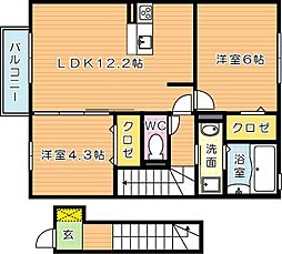 仮)D-room則松[2階]の間取り