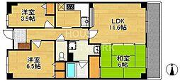ライオンズマンション一条智恵光院[207号室号室]の間取り