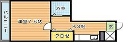 プレアール鷹ノ巣[6階]の間取り