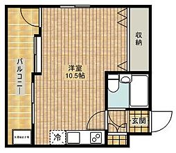 セザール第二武蔵新城[106号室]の間取り