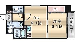 KDXレジデンス難波南[12階]の間取り