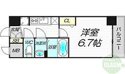 レシオス新大阪NORTH 10階1Kの間取り