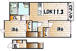 レフィナード三番街 I[2階]の間取り