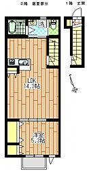 ハウス北仙台[202号室]の間取り