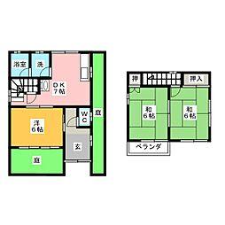 [一戸建] 愛知県江南市今市場町秋津 の賃貸【/】の間取り