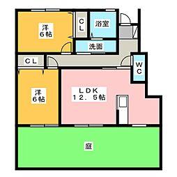 グラニュータウン D棟[1階]の間取り