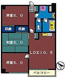 フィールドマンション[203号室]の間取り