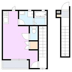 ドミール東貝沢[2階]の間取り