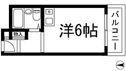 大阪府箕面市如意谷1丁目の賃貸マンションの間取り