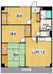 ハイツ飯泉B[105号室号室]の間取り