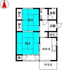 [一戸建] 三重県鈴鹿市平田本町2丁目 の賃貸【/】の間取り