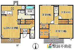 (仮)D-room今の庄[102号室]の間取り