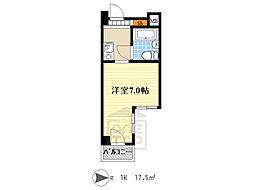リアライズ阪急吹田2 3階1Kの間取り