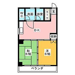 第2フタムラビル[5階]の間取り