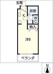 TOMIX−FLAT[3階]の間取り