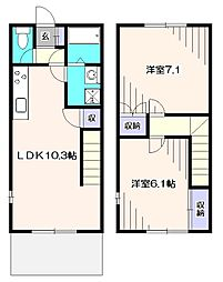 [テラスハウス] 東京都練馬区西大泉1丁目 の賃貸【/】の間取り
