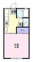神奈川県藤沢市円行1丁目の賃貸アパートの間取り