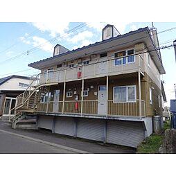 北海道苫小牧市明野新町2丁目の賃貸アパートの外観