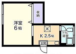 ハイム栄[2階]の間取り