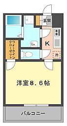 東京都江戸川区東瑞江1丁目の賃貸マンションの間取り