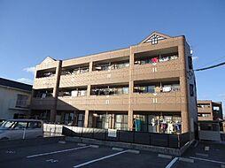 岡山県岡山市北区平田の賃貸マンションの外観