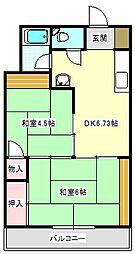うららマンション[304号室]の間取り