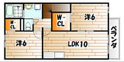 フェイバーサイドII[2階]の間取り