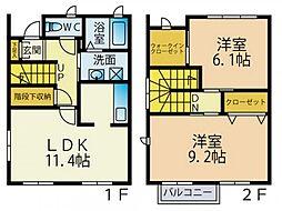 [タウンハウス] 神奈川県厚木市三田南3丁目 の賃貸【/】の間取り