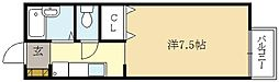 京都府京都市伏見区深草大亀谷古御香町の賃貸アパートの間取り