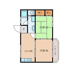 静岡県静岡市清水区天王西の賃貸マンションの間取り