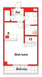 アバンティK2[1階]の間取り