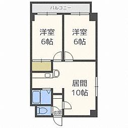 ロイス札幌[4階]の間取り