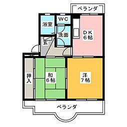 藤レジデンスII[1階]の間取り