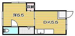 プリンスハウス[2階]の間取り