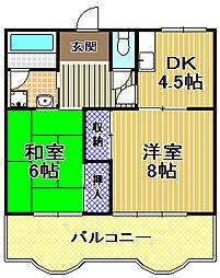 第2セイカイハイツ[5階]の間取り