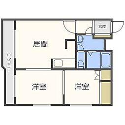 北海道札幌市南区澄川三条5丁目の賃貸マンションの間取り