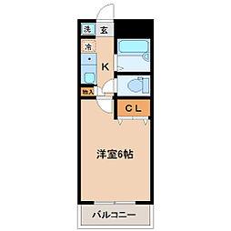テラス苦竹[2階]の間取り