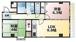 オーキッドマヤ[3階]の間取り